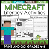 Minecraft Reading Activities   Distance Learning