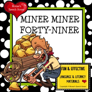 MINER MINER Gold AAC Pictures Reading Speech