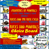 MINERALS and ROCKS Choice BOARD