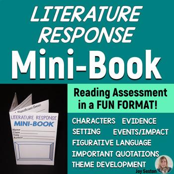 MINI-BOOK FOLDABLE for Literature Response - Common Core - Grades 5-6-7-8
