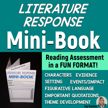 MINI-BOOK FOLDABLE for Literature Response - Common Core - Grades 5-6-7-8