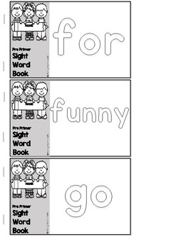 MINI BOOKS AND WATCHES - DOLCH PRE PRIMER SIGHT WORD