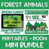 MINI BUNDLE Adapted Book I See + Forest Animals BOOM Cards™️ + Printables Spring