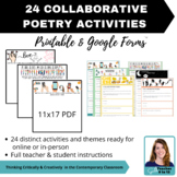 MINI BUNDLE - Digital & Printable - 24 collaborative poetry activities - ELA