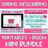 MINI BUNDLE Spring Describing Webs Category Function BOOM Cards™️ + Printables