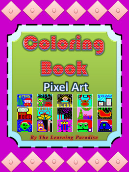 MINI COLORING BOOK- Christmas - Pixel Art - Color by Number
