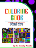 MINI COLORING BOOK- Halloween -Pixel Art - Color by Number