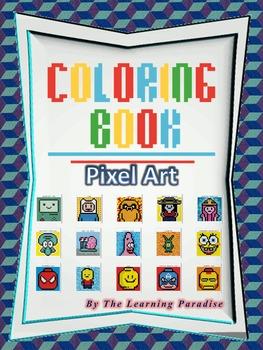 MINI COLORING BOOK- Pixel Art- Addition Worksheets