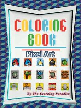 MINI COLORING BOOK- Pixel Art- Color by Number by The Learning Paradise
