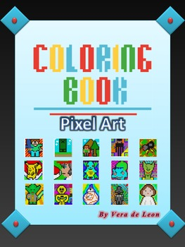 Mini Coloring Book Pixel Art Color By Number By The Learning Paradise