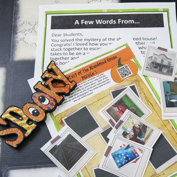 MINI Escape Game Break Out Box Activity, Halloween Activity for Yearbook