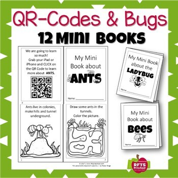 MINI FOLDABLES BUG BOOKS WITH QR CODES