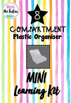 MINI LEARNING KIT using - 8 Compartment Plastic Storage