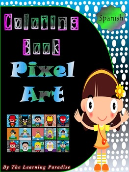 MINI COLORING BOOK- Pixel Art- Color by Number- SPANISH