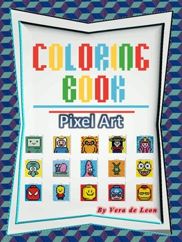 MINI COLORING BOOK- Pixel Art- Addition Worksheets- Spanish