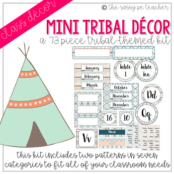 MINI-Tribal Classroom Decor Pack