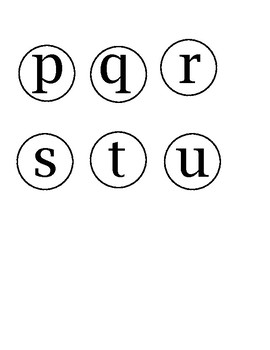 MINI WORD WALL LETTERS simple black and white