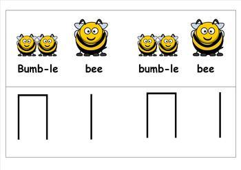 MINIBEAST RHYTHM CARDS - BUMBLE BEE