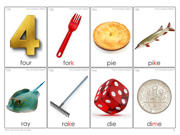 MINIMAL PAIRS Photo Flash Cards *Final Consonant Deletion* FCD Phonology