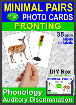 MINIMAL PAIRS Photo Flash Cards *Fronting* t-k d-g s-sh