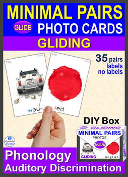 MINIMAL PAIRS Gliding Photo Cards w-l y-l w-r Phonology