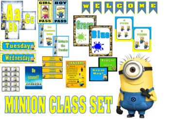 Minion Class Decor Set