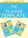 MINION MEET THE TEACHER NEWSLETTER TEMPLATE EDITABLE BACK