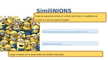 MINIONS: Similes / Símiles in Spanish