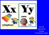 MINIONS THEME ALPHABET LINE - ALPHABET CARDS