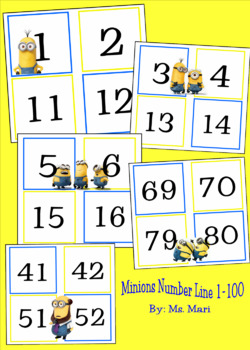 MINIONS THEME - NUMBER LINE - 1-100