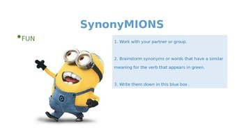 MINIONS ppt: Adjectives in English-Synonyms