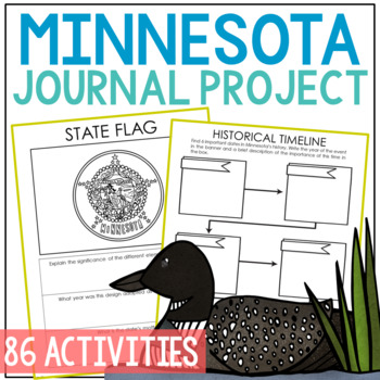 MINNESOTA History Guided Research Project, Notebook Journal Pages {EDITABLE}
