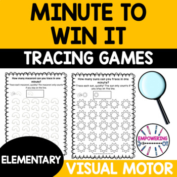 MINUTE TO WIN IT! Tracing games fine motor, visual motor games!