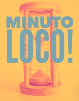 MINUTO LOCO! SUPER 7 VERBOS * VERB PRACTICE * GAME * REVIEW DAY!