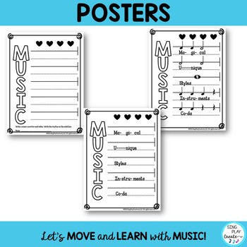 Freebie: Music Class MIOSM Acrostic Poem Writing Activity and Poster
