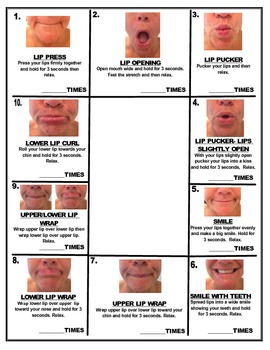 MIRROR, MIRROR ON THE WALL LIP EXERCISES FOR ALL- Speech Therapy