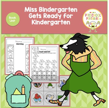 MISS BINDERGARTEN GETS READY FOR KINDERGARTEN BOOK UNIT