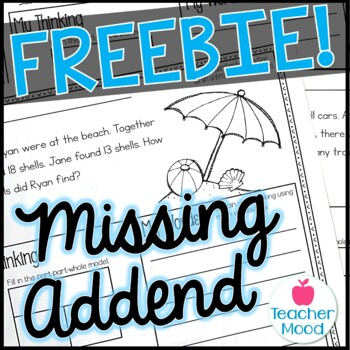 {MISSING ADDEND} Differentiated Word Problems {100 FOLLOWERS FREEBIE}