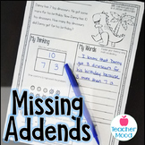 MISSING ADDEND - Addition & Subtraction Word Problems  1OA4