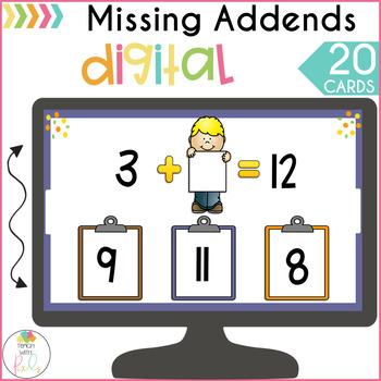 DIGITAL Missing Addends Game