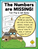 MISSING ADDENDS Math Review Activity for First & Second Grade