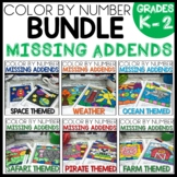 MISSING ADDENDS TO 20 COLOR BY NUMBER BUNDLE  Themed