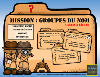 MISSION : GROUPES DU NOM (cartes à tâches) [FRENCH]