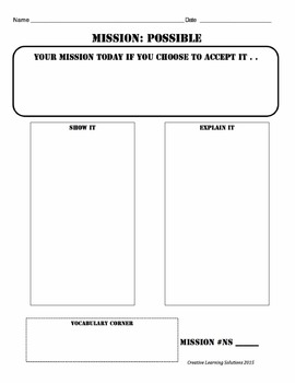 MISSION:POSSIBLE-Problem Solving Activities for Middle School:Number Sense