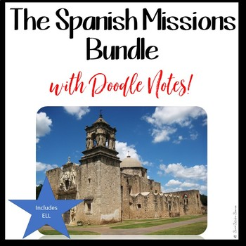 MISSIONS OF TEXAS BUNDLE for Texas History 7th Grade