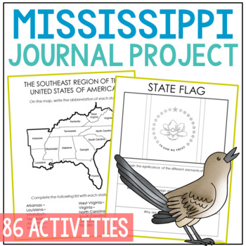 MISSISSIPPI History Guided Research Project, Notebook Journal Pages {EDITABLE}