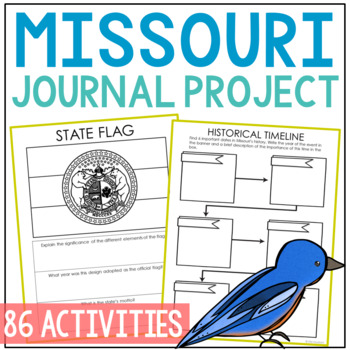 MISSOURI History Guided Research Project, Notebook Journal Pages {EDITABLE}