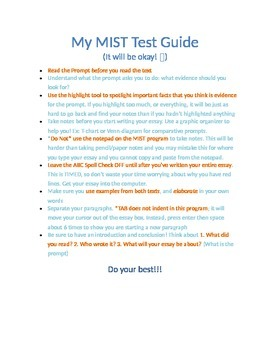 MIST Writing Test Tips