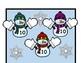 MITTENS MAKE 10 folder game & worksheet (subitizing, decomposing to make 10)