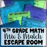 Mix and Match Digital Escape Room: Fourth Grade Math